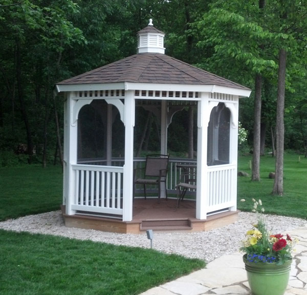 gazebo kits diy vinyl gazebo kit ELYVQZD