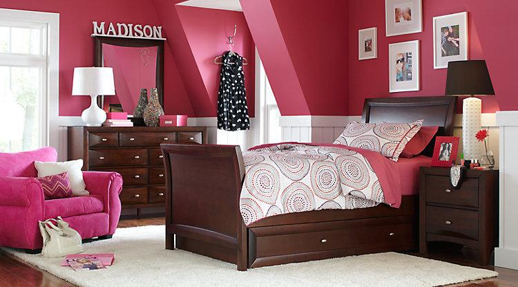 girl bedroom sets ivy league cherry 6 pc full sleigh bedroom BAHCUGI