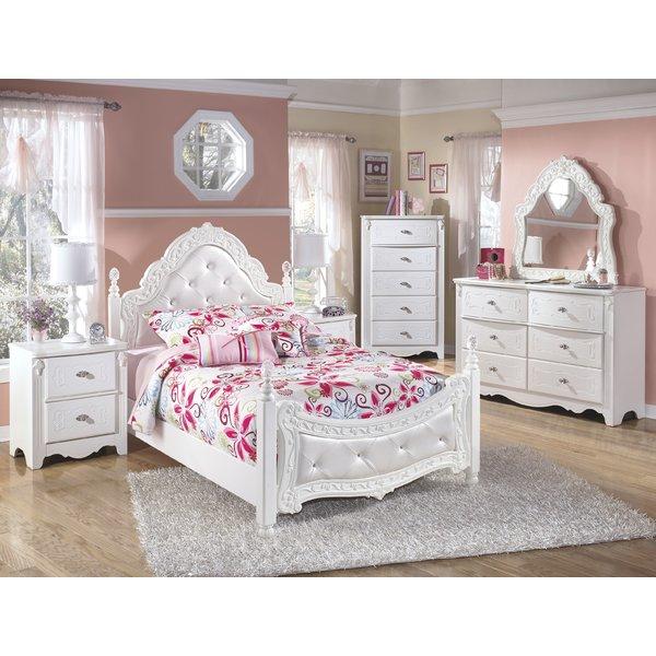 girl bedroom sets viv + rae emma four poster configurable bedroom set u0026 reviews | wayfair MCEZOYS