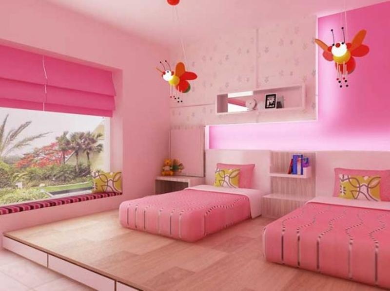 girls bedroom designs adorable pink twin bedroom BQXNLXS