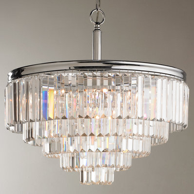 glass chandelier modern faceted glass layered chandelier - convertible EWQMQEC