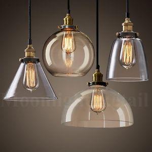 glass lamp shades image is loading new-modern-vintage-industrial-retro-loft-glass-ceiling- QGZFWVH