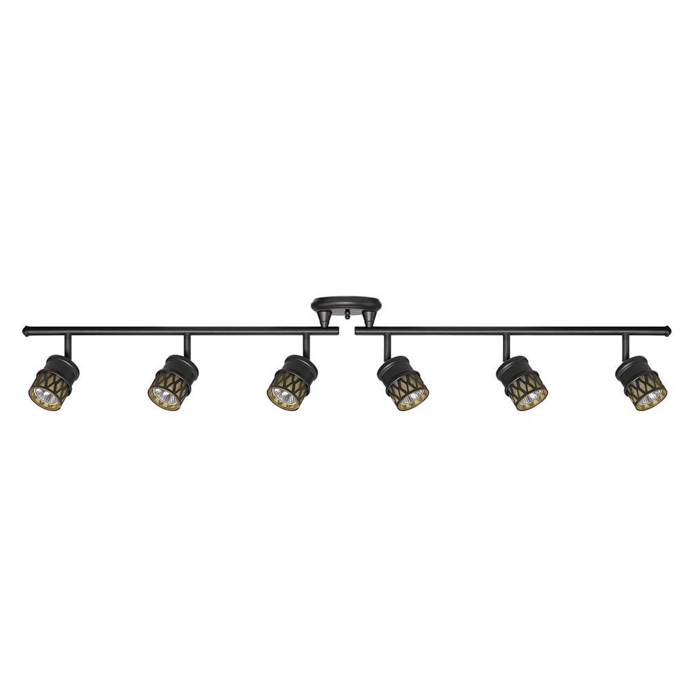 globe electric kearney 6-light oil rubbed bronze foldable track lighting kit JLWAODB