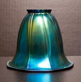 globe glass lamp shades | iridescent art glass bell replacement ESCTWEQ