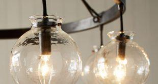 globe lighting barrett glass globe chandelier | pottery barn XPHLXDN