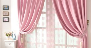 good quality solid girls cheap pink curtains KGWUVUB