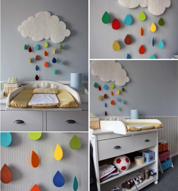 gorgeous rain cloud mobile baby room decor XJOQROE