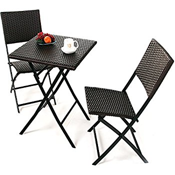 grand patio parma rattan patio bistro set, weather resistant outdoor  furniture sets KJYASRH