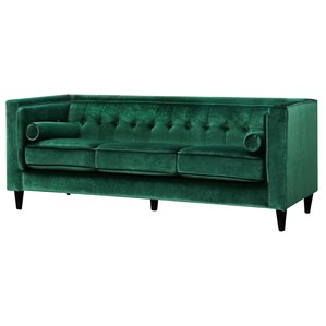 green sofa roberta velvet chesterfield sofa EXYYIKP