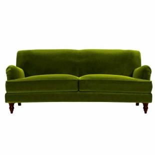 green sofa snowdrop sofa in olive cotton velvet - i love this green color. AQVMTJX