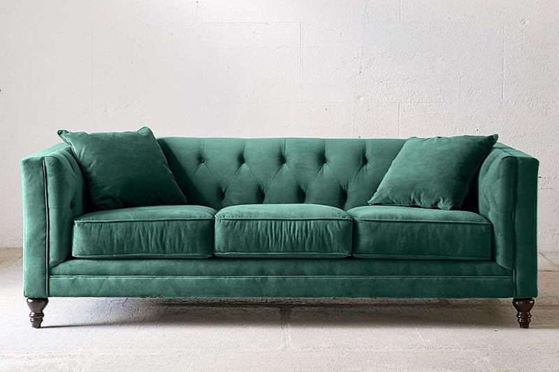 green sofa start the slideshow LAWQVDF