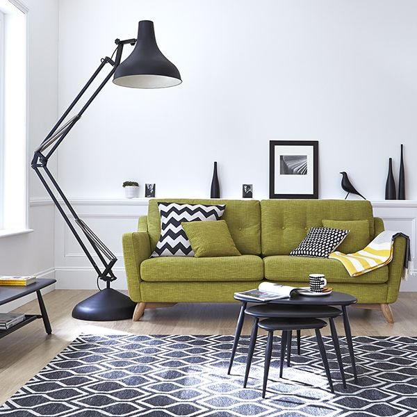 green sofa the ercol cosenza collection features retro designs with a mid century  modern ANHVZAW