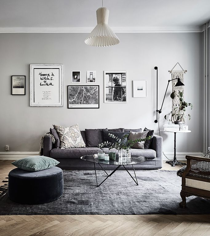 Grey Living Room johanna bradfordu0027s home - via cocolapinedesign.com. grey living roomsliving  room ... SPXFWFT