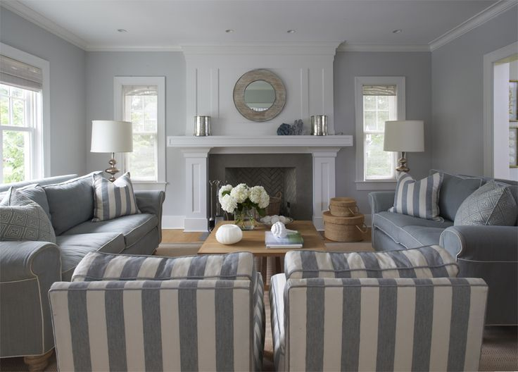 Grey Living Room the house is a gray shingle style home with a gray and white BFWDMEI