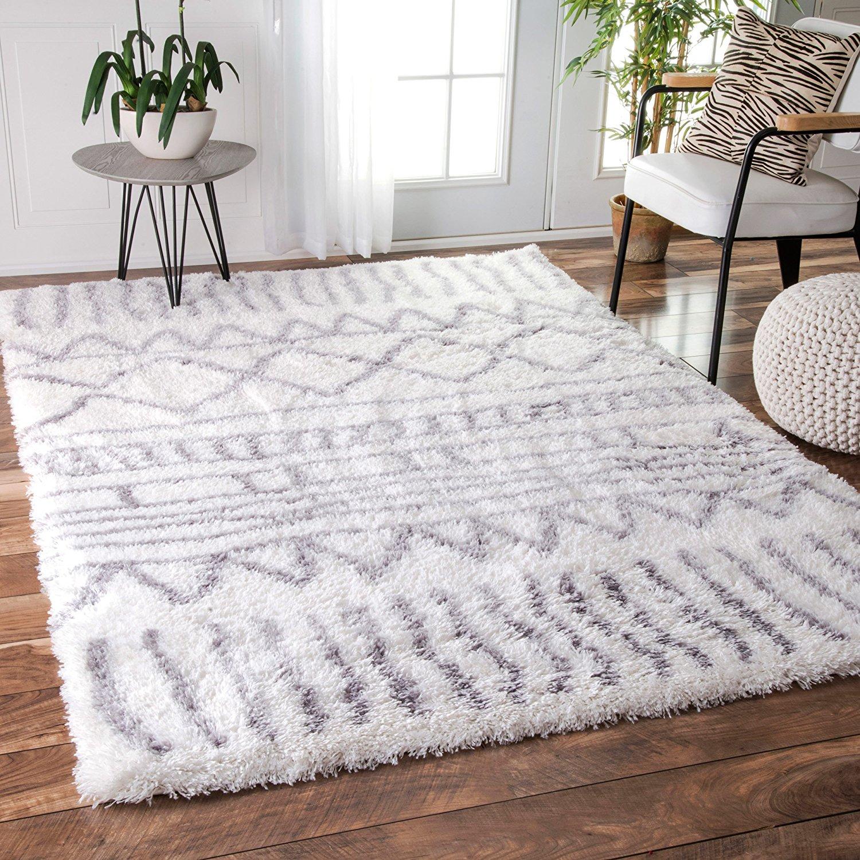grey rugs amazon.com: soft u0026 plush geometric drawings kids grey shag area rugs, 4 SZAIRYD