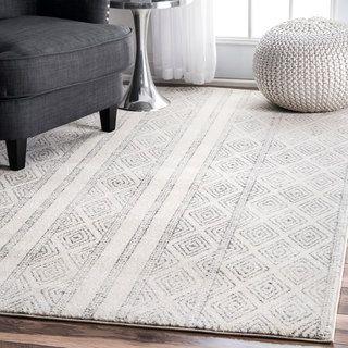 grey rugs contemporary geometric banded birdu0027s eye diamonds grey area rugs, 4 feet by JLPHVCA