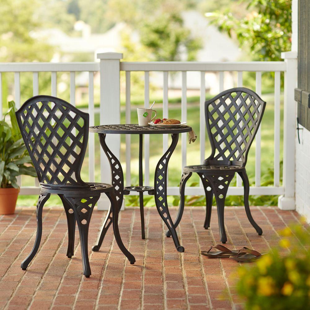 hampton bay legacy 3-piece patio bistro set AZPPWXQ