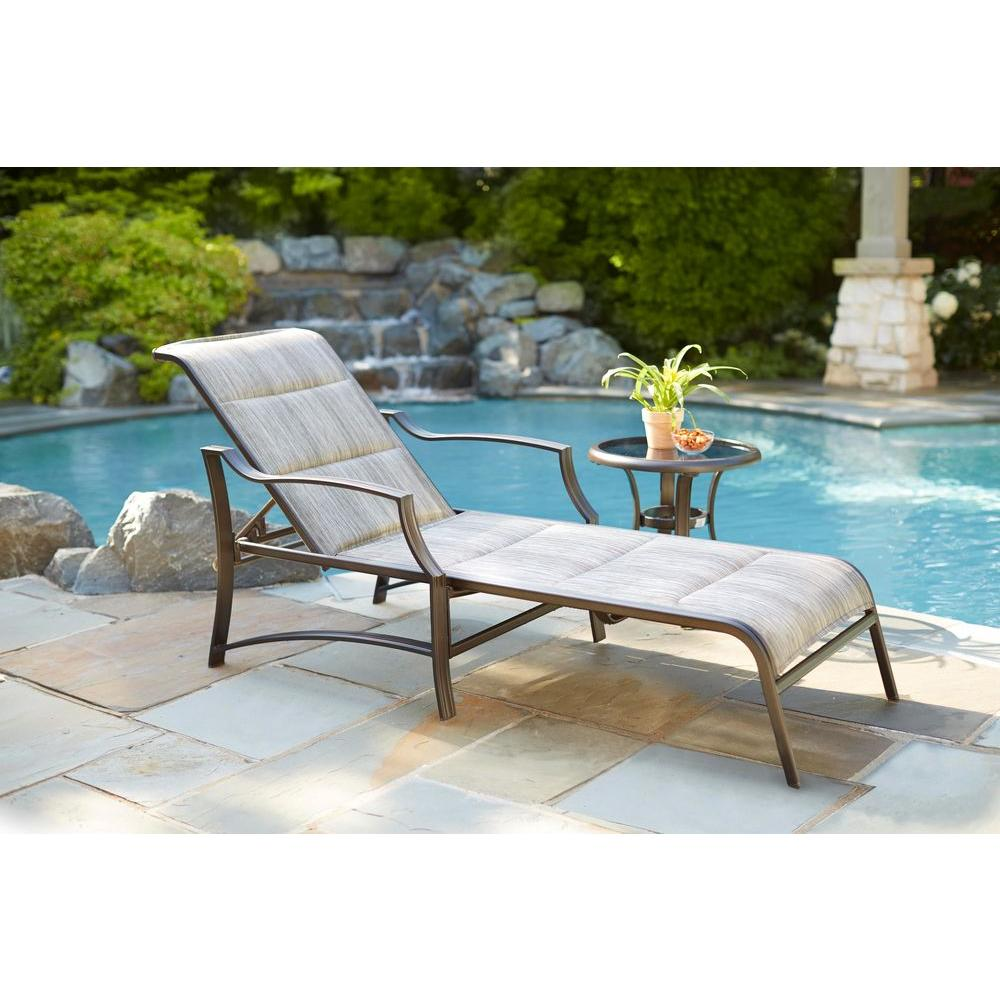 hampton bay statesville padded patio chaise lounge KOQOTDO