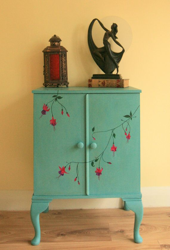 hand painted furniture beautiful vintage hand painted filing by lingeringlightstudio, NOHOUDC