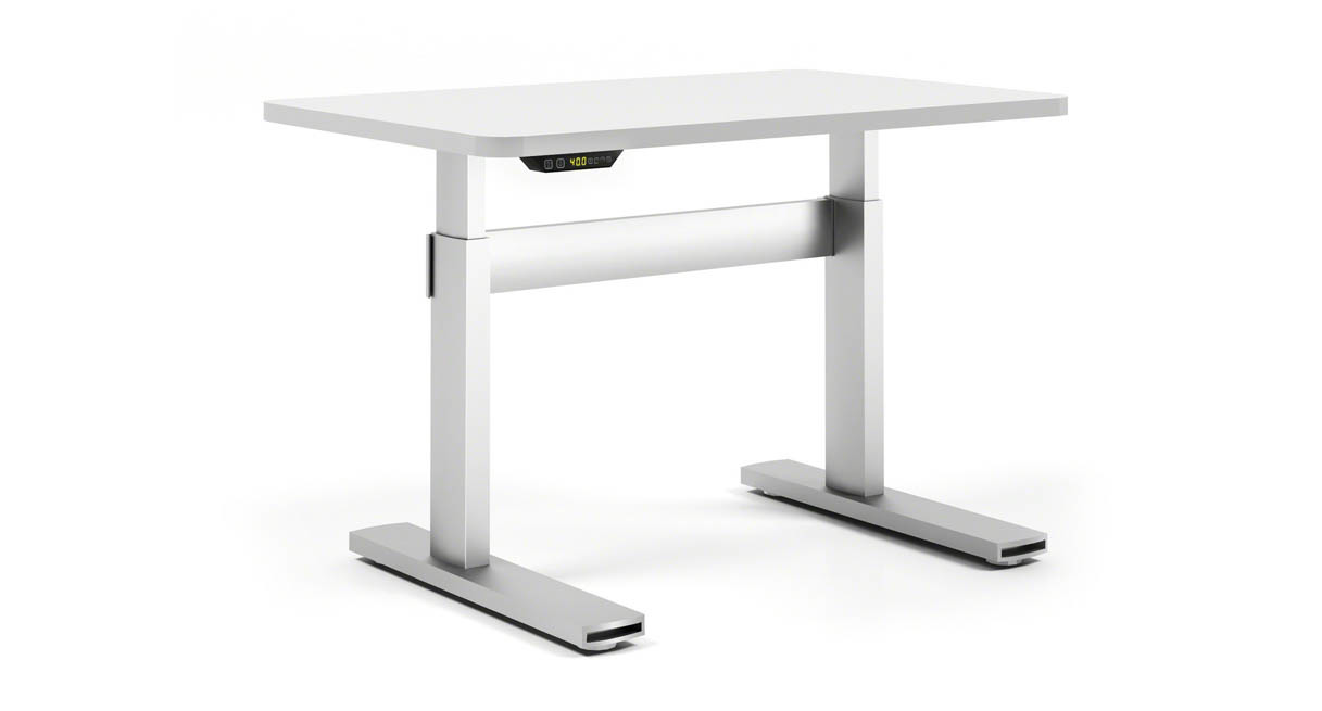 height adjustable desk heavy-duty lifting columns are synched for smooth lifting of up to 360 lbs MJNOVQD