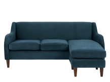helena large corner sofa, plush teal velvet | made.com NTWIXBX