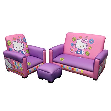 hello kitty toddler sofa, chair and ottoman set, lavender (discontinued by  manufacturer) OPZWXOZ