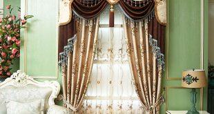 high end chenille floral blackout vintage curtains DZZTHDT
