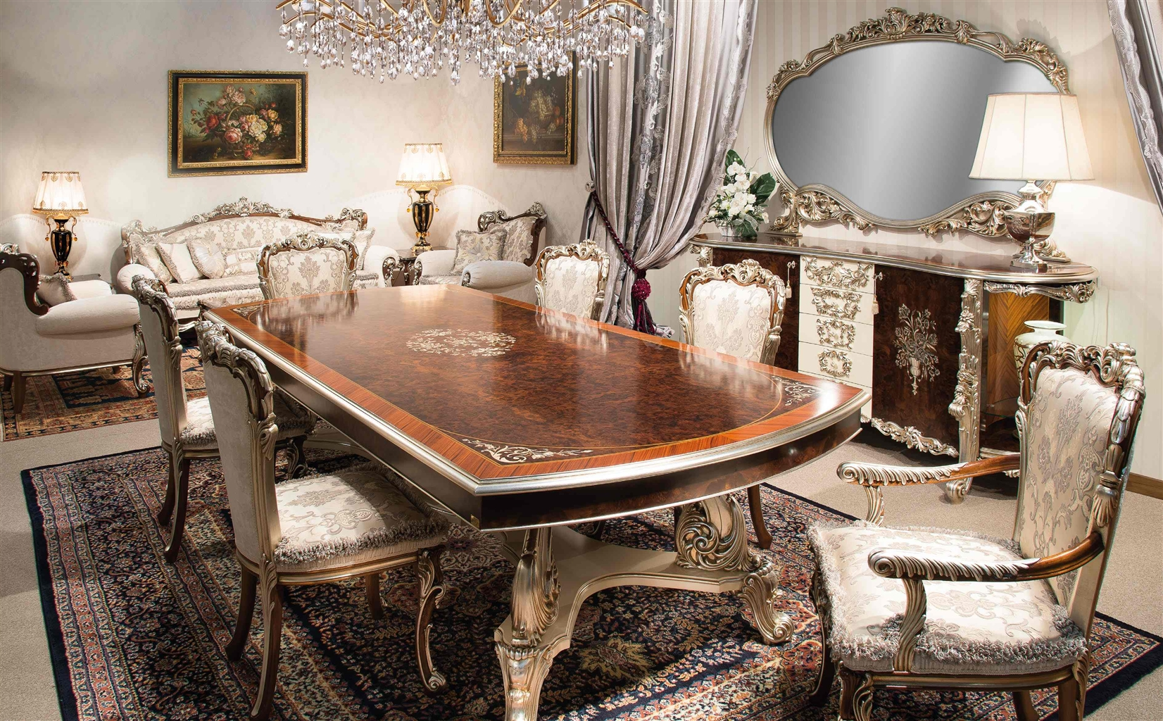 High End Furniture Dining Tables 1 Italian Room Set Lyjmbyj