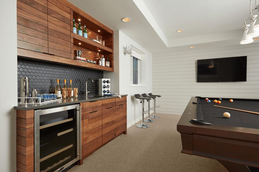 home bar designs ... dark-wood-modern-bar BNZQHIR