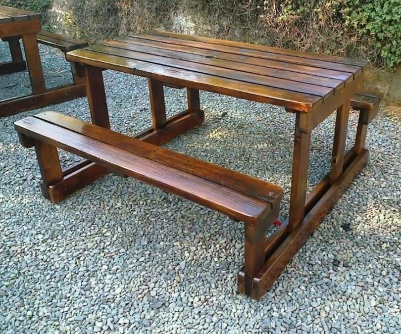homemade wooden garden benches KGIHOVC