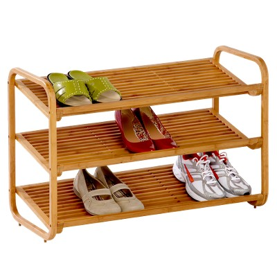 honey-can-do 3-tier deluxe bamboo shoe rack OTDJIZO