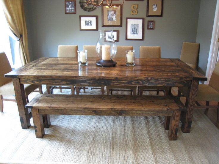 how to make a diy farmhouse dining room table: restoration hardware knockoff LDTFVMS