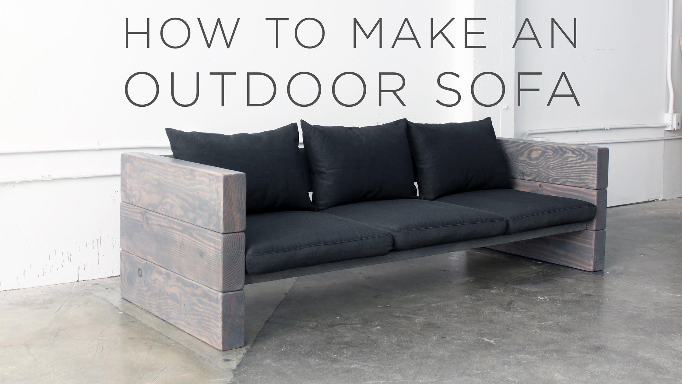 how to make an outdoor sofa - youtube TXVHYJV