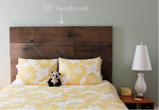 ideas u0026 instructions: 9 woody diy headboards | apartment therapy FYZKFCY