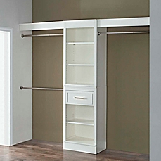 image of french heritage closet organizer in parisian white KPVCZNQ