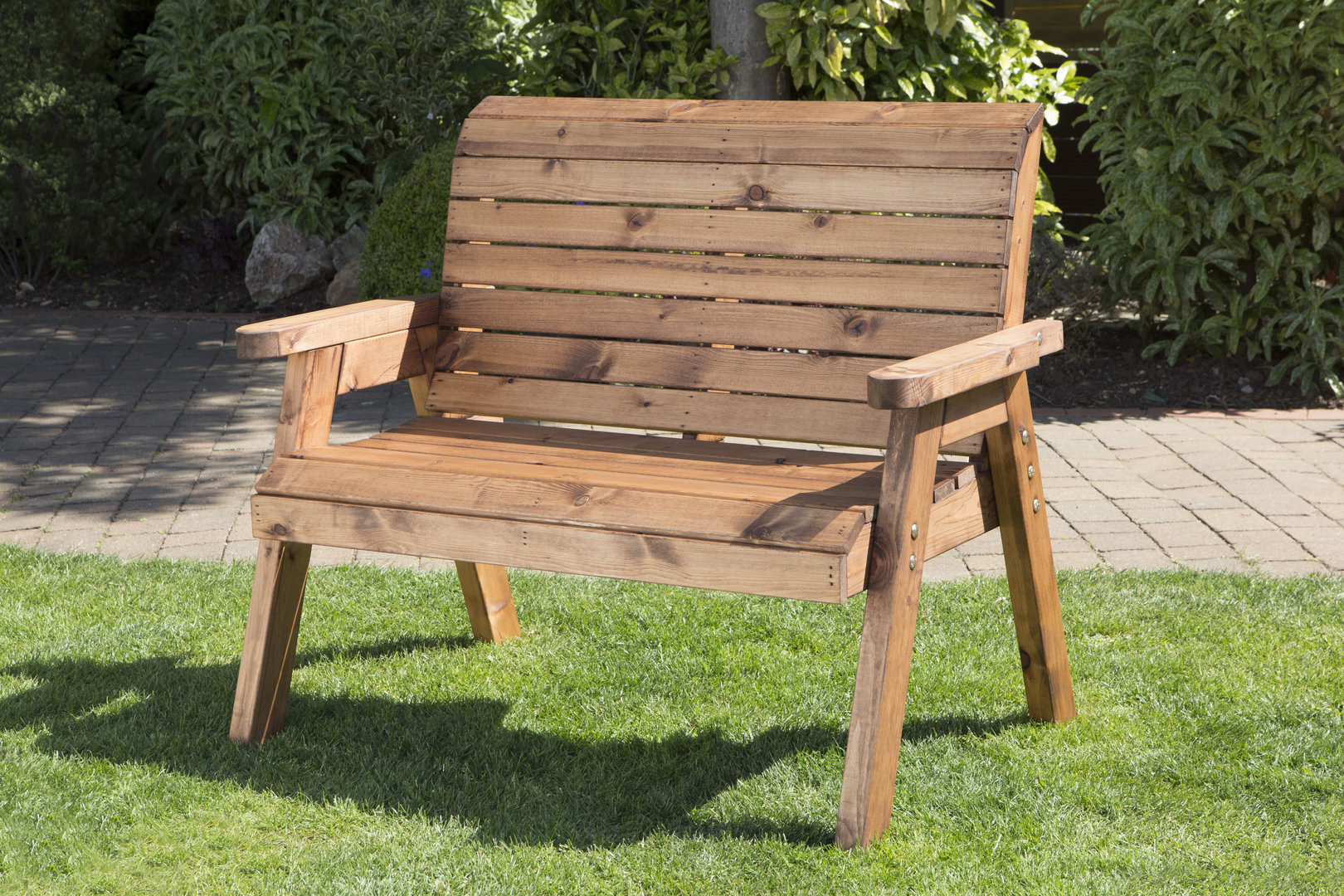 image of: small wooden garden benches TWUDSMZ