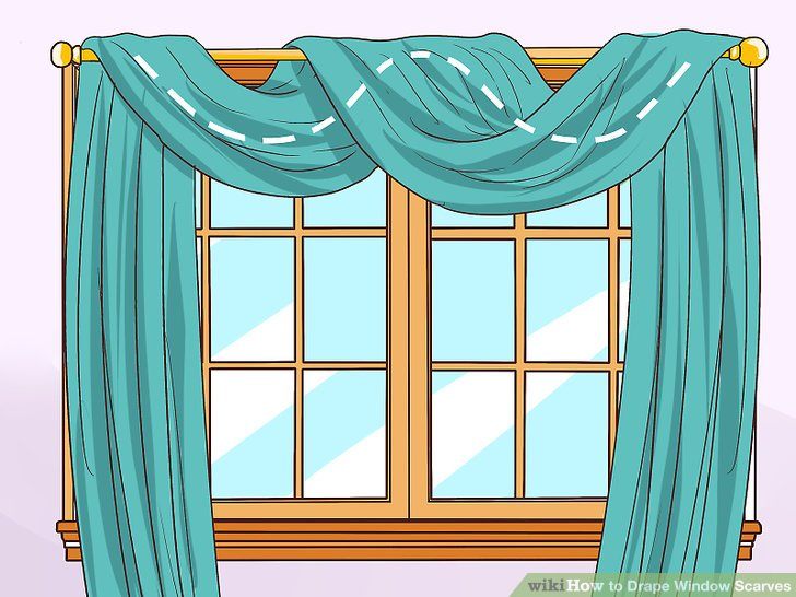 image titled drape window scarves step 2 AOBFYUG