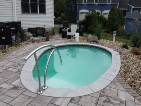 interesting fact: an 8u0027 square masonry built plunge pool 54u201d deep holds XEHBCJP