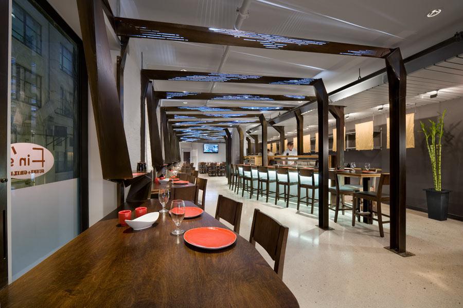 interior architecture photo finu0027s sushi and grill by studio luz architects ... HMXUTUJ