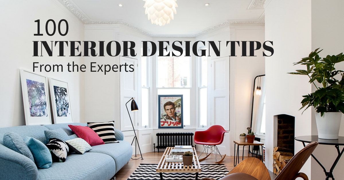 interior design tips: 100+ experts share their best advice ONLSWVD