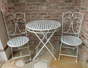 iron patio furniture camilla series white metal patio furniture bistro set- wrought iron,  anti-rust table OEGZOVP
