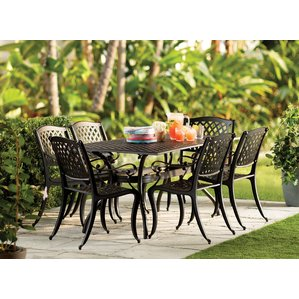 iron patio furniture castle heights 7 piece dining set KWFDEJV