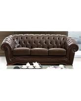 italian leather sofa luca home brown italian leather rhinestone sofa (luca home brown italian  leather HPZDDAF