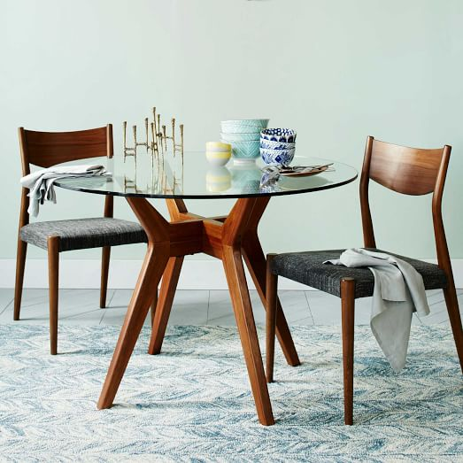 jensen round glass dining table QGZDHFC