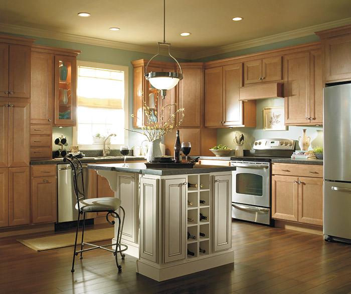 jordan light maple kitchen cabinets in the ginger finish ... JVZURIR