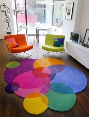 kids area rugs bubbles square - contemporary modern area rugs by sonya winner ROCJSDN