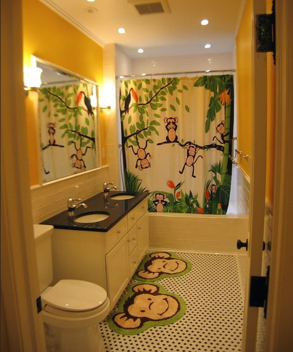 kids bathroom ideas view in gallery playful and vivid jungle theme surely lights up this INCGHEP