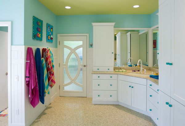 kids bathroom ideas view in gallery select patterns and colors give this eclectic kidsu0027 bathroom EEKYYNQ