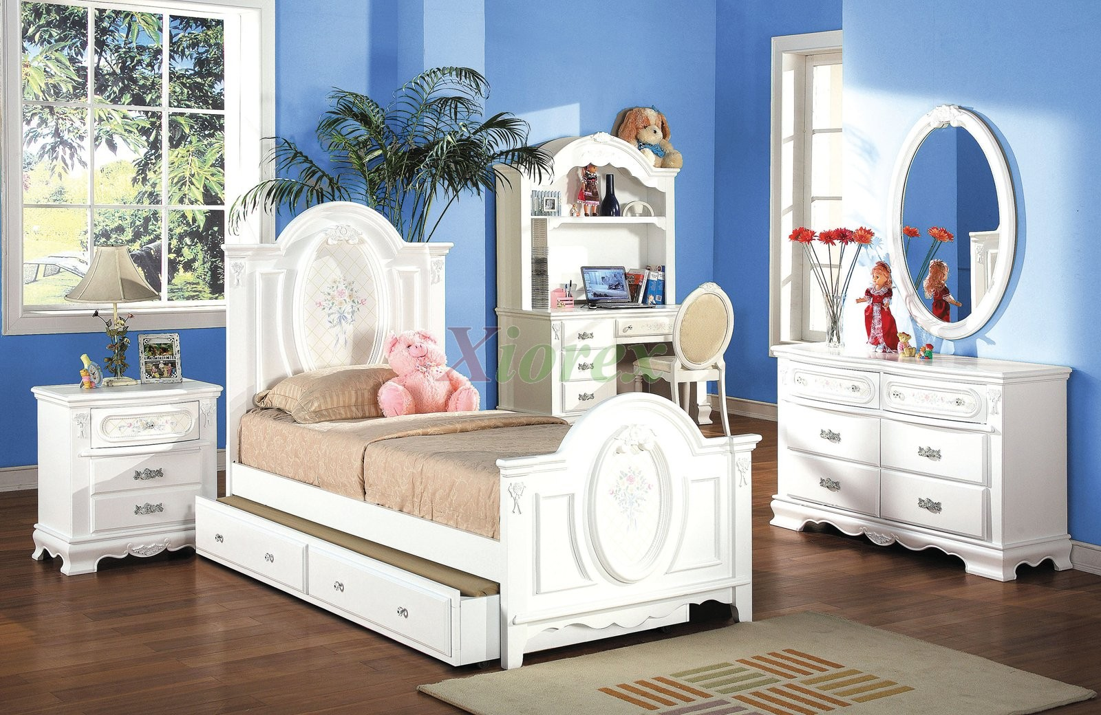 kids bedroom furniture set with trundle bed and hutch 174 | xiorex IDGVBXM