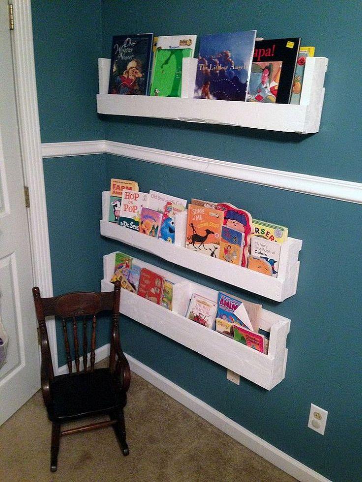 kids bookshelf diy pallet bookshelves OJDAIXC